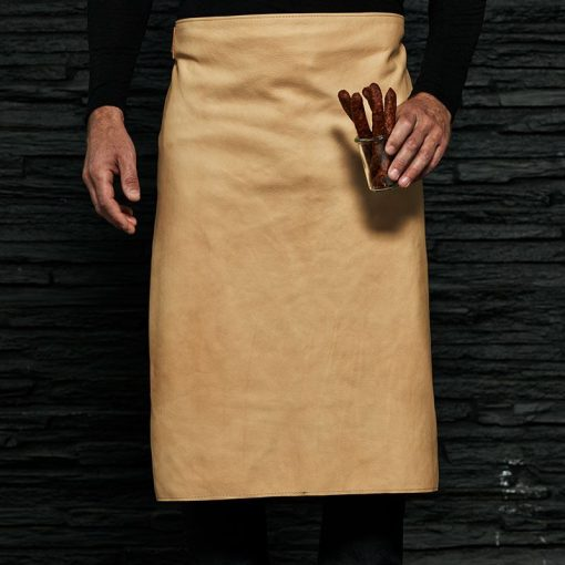 Waist apron made in sustainable leather